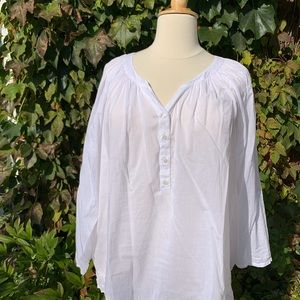 STYLE & CO Poet's Blouse, 2X
